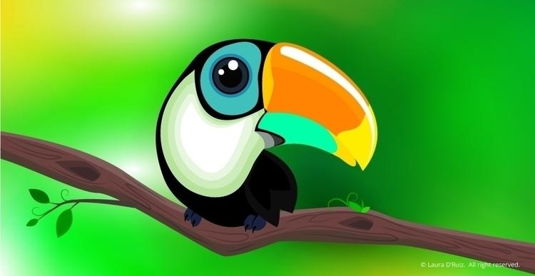 toucan, vector, illustration - laudruiz | ello
