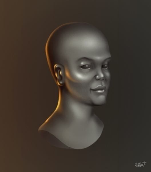 'Bust - illustration, digitalpaintng - agent23-5248 | ello