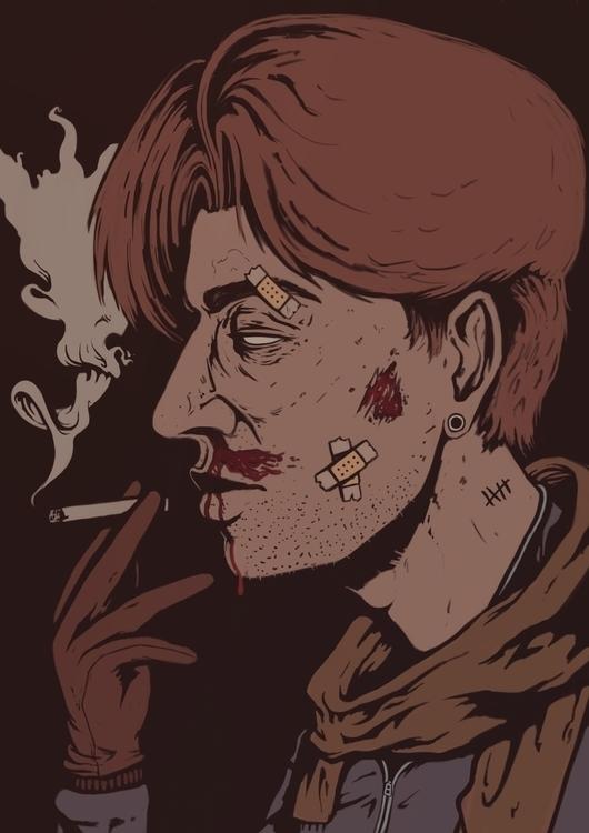 Inhale - illustration, painting - tiboexe | ello