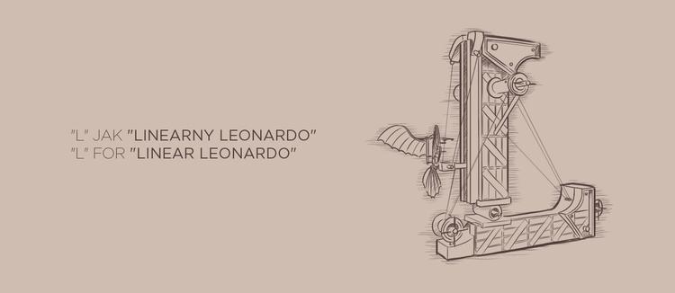 Linear Leonardo - lineart, lineillustration - adamlapko | ello