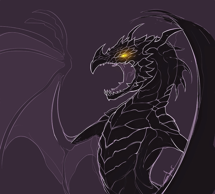 Dragon sketch - dragon, dragons - sarcix | ello