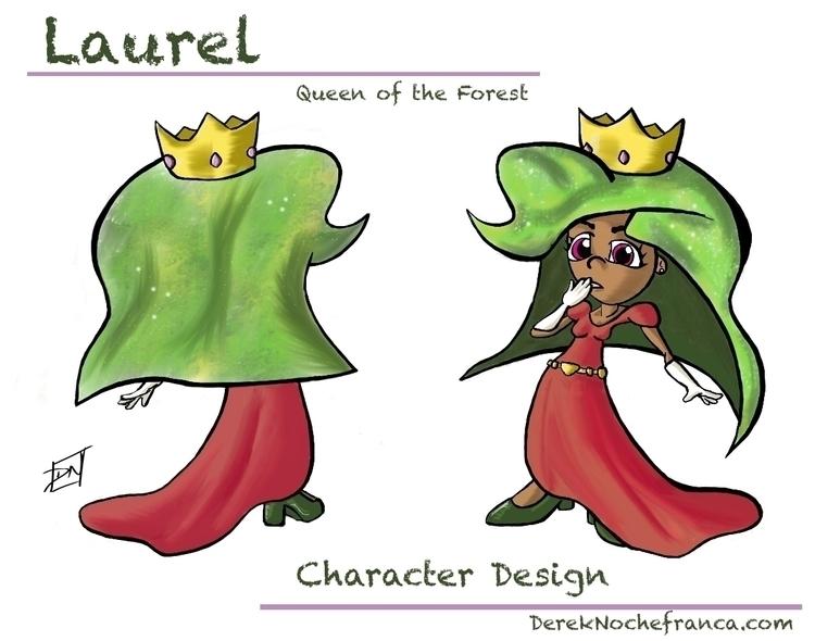 Laurel: Queen Forest Character  - dereknochefranca | ello