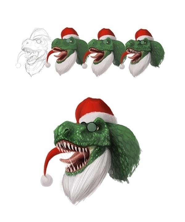 Step step dinosaur - digitalpainting - adamlapko | ello
