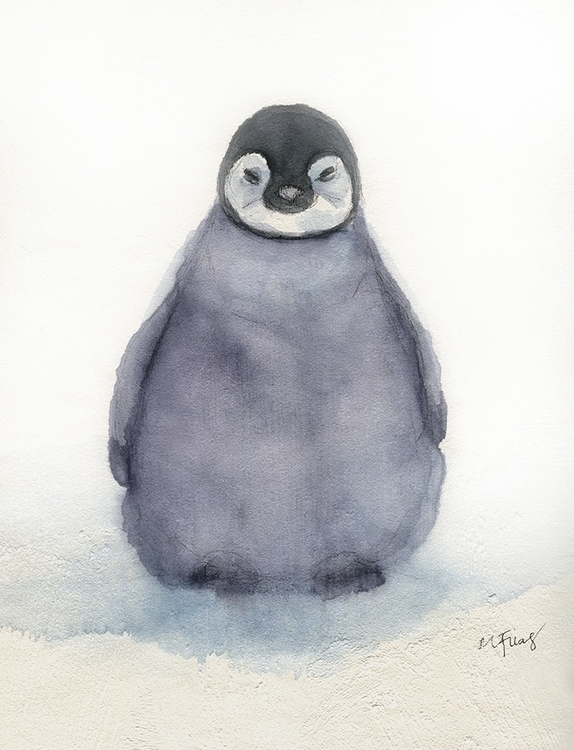 Baby Penguin - painting, watercolor - mgfrias | ello