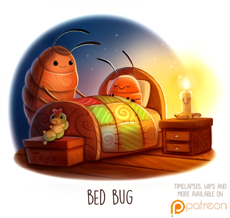 Daily Paint 1512. Bed Bug - piperthibodeau   ello