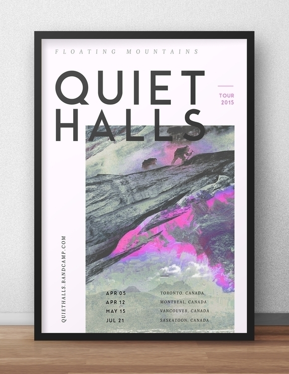 Quiet halls poster - illustration - alexmercier | ello