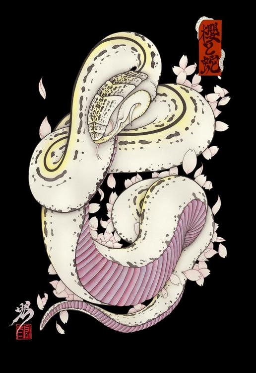 sakura snake - tattoo - kota_nakatsubo | ello