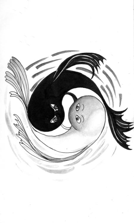 YIN YANG: good evil - yinyang, illustration - amrita-4734 | ello