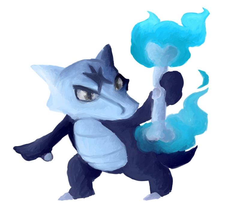Alolan Marowak - pokemon, pokemonsunandmoon - rabbott-8438 | ello