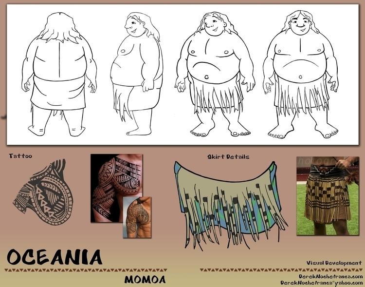 OCEANIA Packet (6 8) character  - dereknochefranca   ello