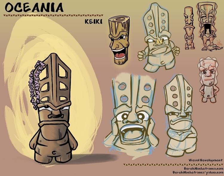 OCEANIA Packet (4 8) character  - dereknochefranca | ello