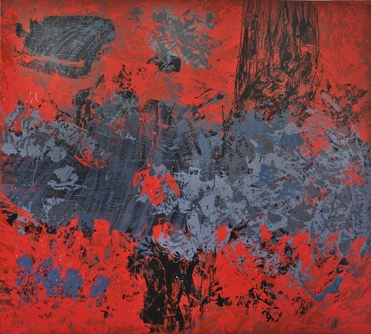 painting, red, expressionism - anavrtacnik | ello