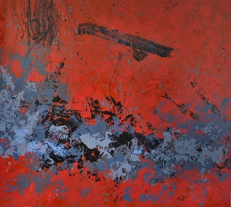 red, painting, abstractcomposition - anavrtacnik | ello