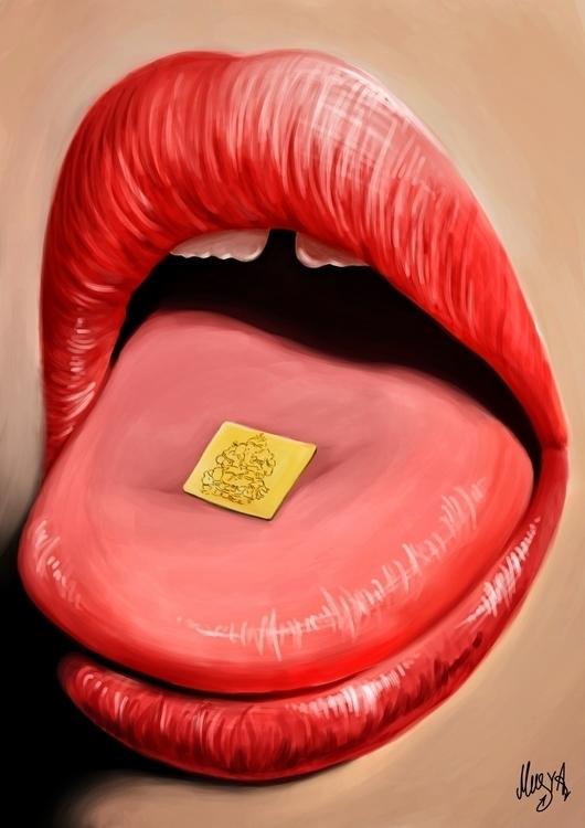 Oral#painting#photopainting#mouth#lips#woman#illustration#musyaqeburia - musya | ello