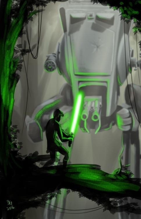 Showdown - illustration, digitalart - bwgarlick | ello
