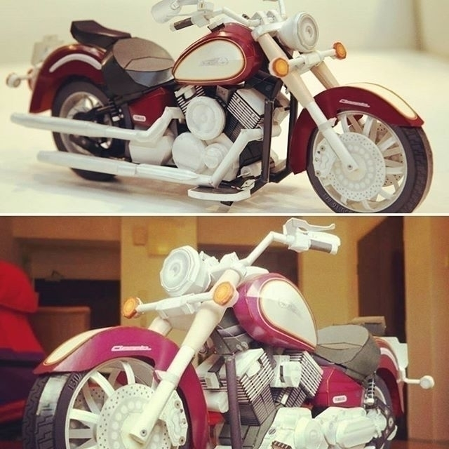 Paper Model 'Yamaha DragStar Cl - papersmithsingh | ello