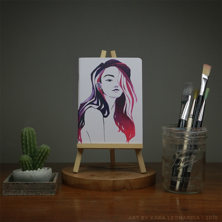 PINK + PURPLE - illustration, painting - renka002 | ello
