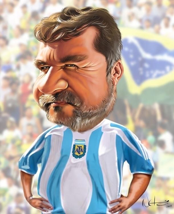 caricatura amigo - illustration - netim   ello