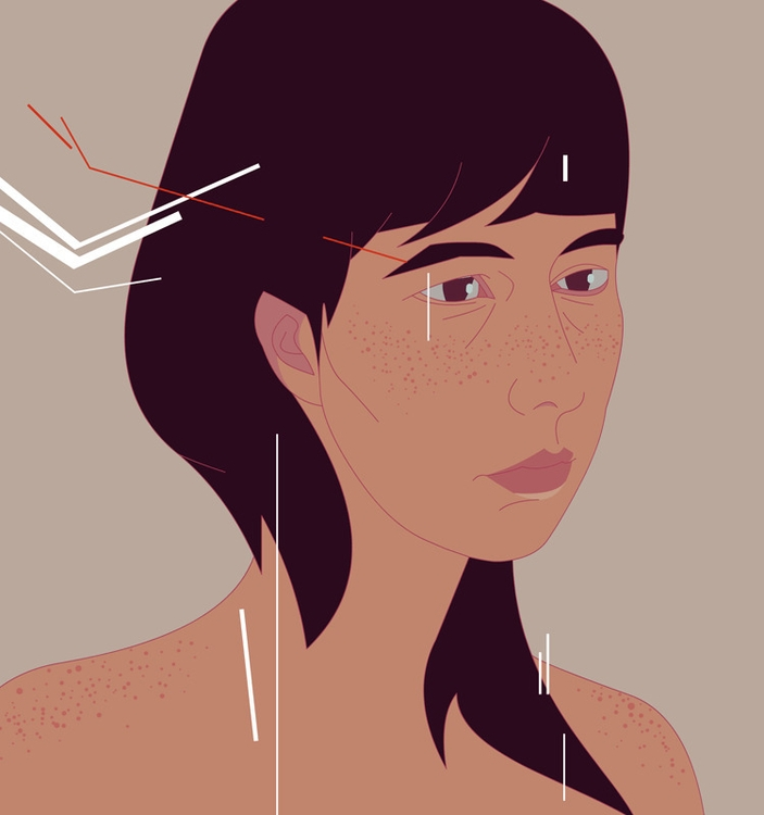 Irina 3.2 - illustration, portrait - paperaffinity | ello