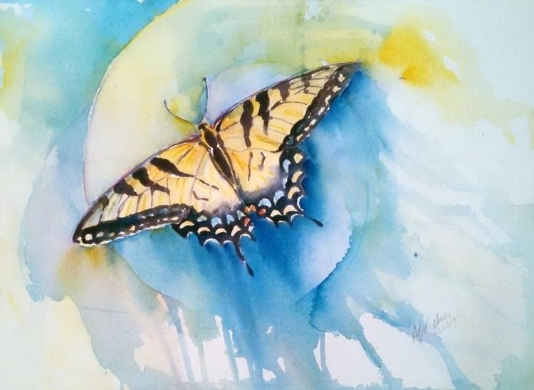 Tiger Swallowtail - painting, animals - brightspirit   ello