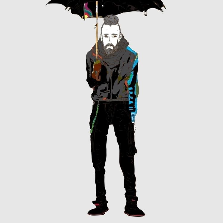 VIBGYOR - man, umbrella, rainbow - kasiminami | ello