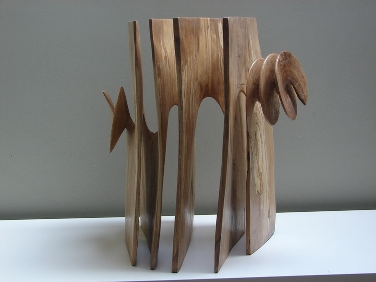 Oak wood scultpture - sculptute - xavipuente | ello