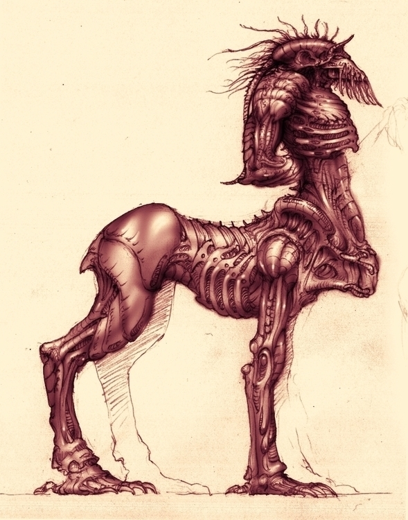 Leftraro Film Creature Design i - cristianmonteslynch | ello