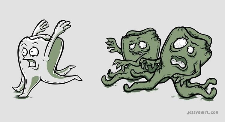 kids care turn zombies. die pai - jellysoupstudios | ello