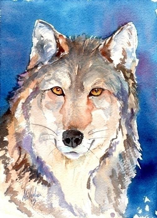 Spirit Wolf - wolf, graywolf, timberwolf - brightspirit | ello