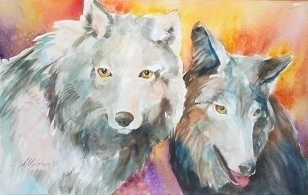 Alpha Beta - illustration, painting - brightspirit | ello
