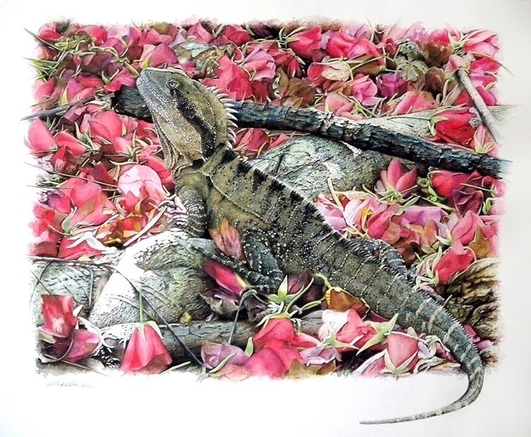 Water Dragon - painting - ziyae | ello