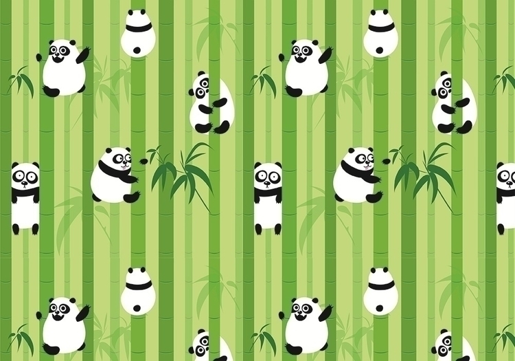 Pandas - illustration, pattern, vector - ololonycolophony | ello