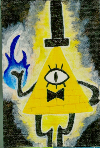 4x6 mini canvas Bill Cipher rea - ashleywilliams-1156 | ello