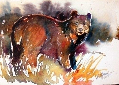 Bear II - illustration, painting - brightspirit | ello