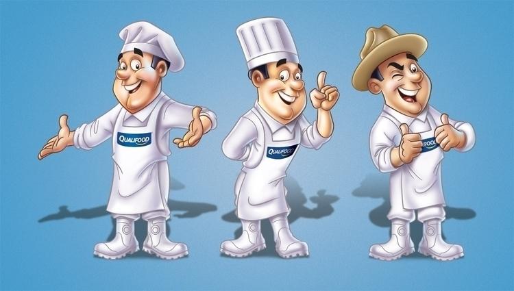 Mascote Qualifood - illustration - netim | ello