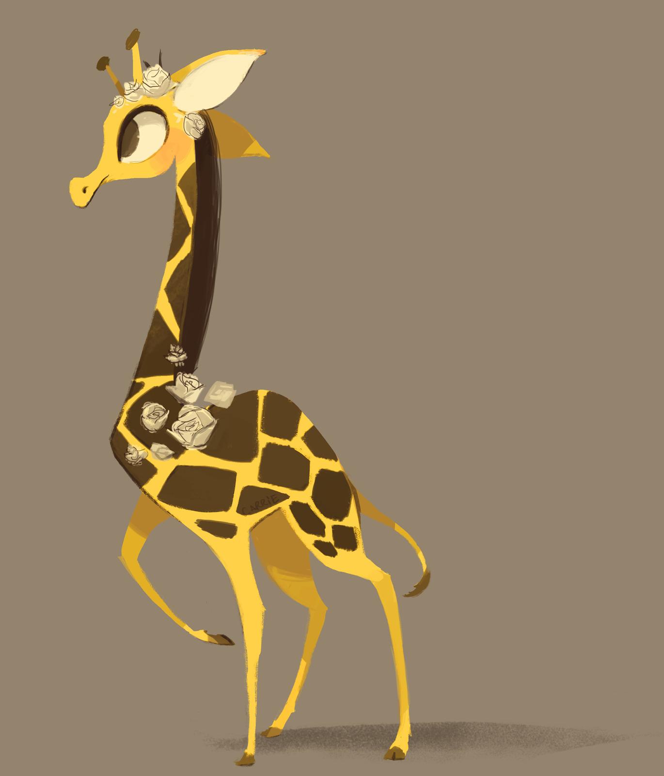 illustration, giraffe, carriehankins - carriehankins | ello