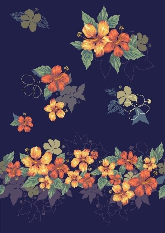 Illustration Exotic flovers - illustration - mariiakozina | ello
