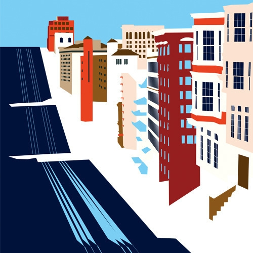 San Francisco - landscape, illustration - petica | ello