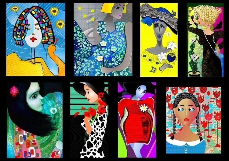 WomenFlowers Digital drawing pa - tatti-2823 | ello
