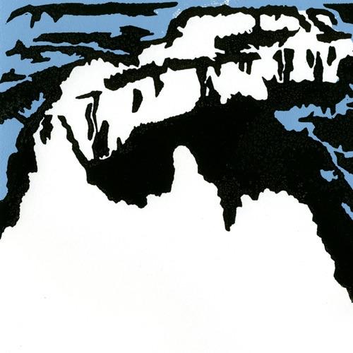 canyon - linocut, linoleumprint - petica | ello