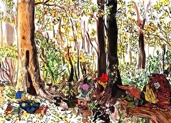 Wild imps leaf girl crossover - illustration - jchanart | ello