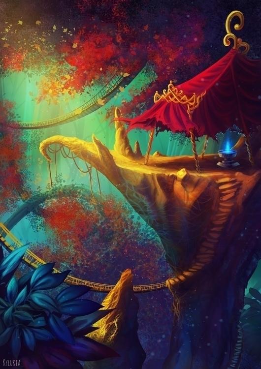 fantasy, conceptart, environment - kylukia   ello