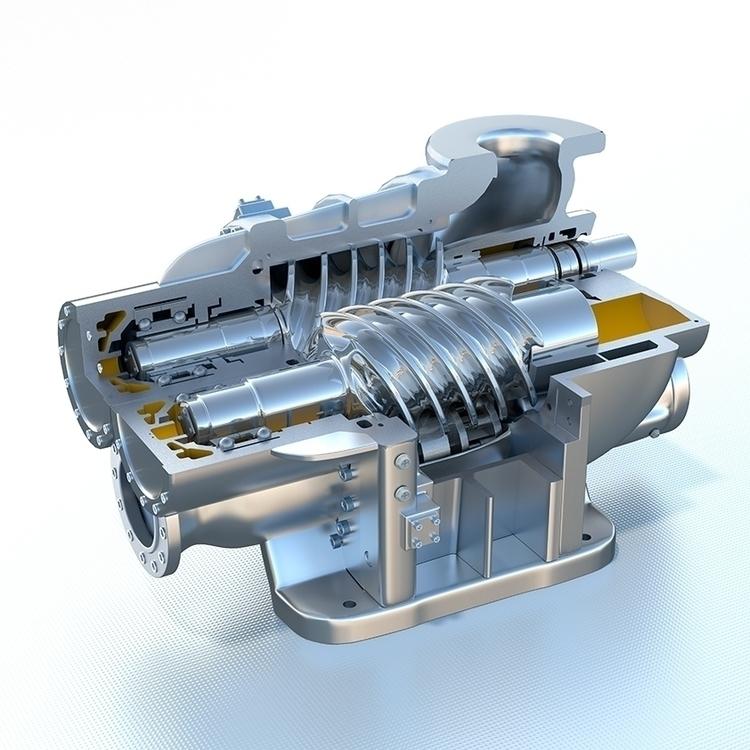 Engen Compressor - 3D, Modelling - vantage-9372   ello