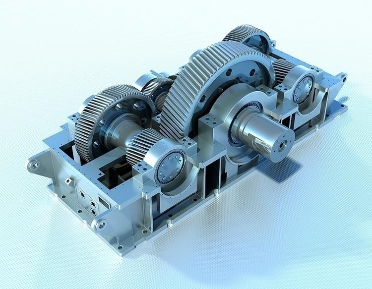 Engen Gearbox 02 - 3D, Modelling - vantage-9372 | ello