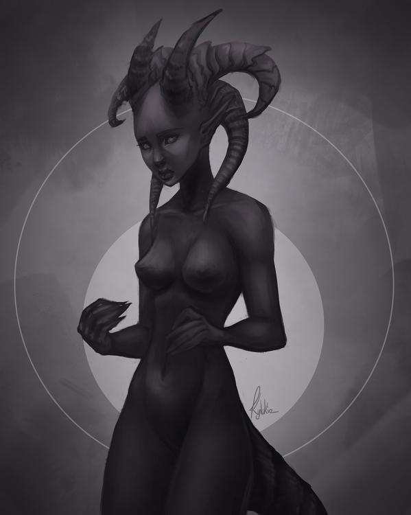blackandwhite, fantasy, creature - kylukia   ello