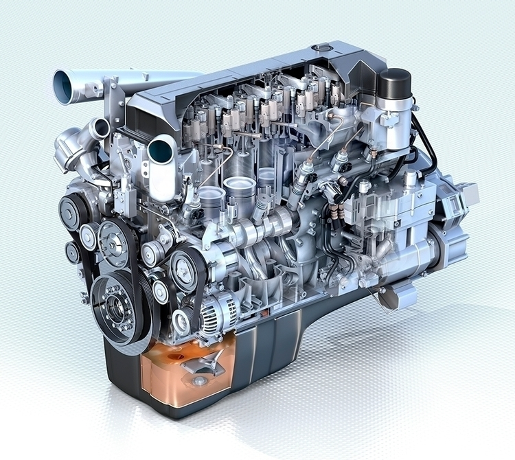 Engen Industrial Engine - 3D, Modelling - vantage-9372 | ello