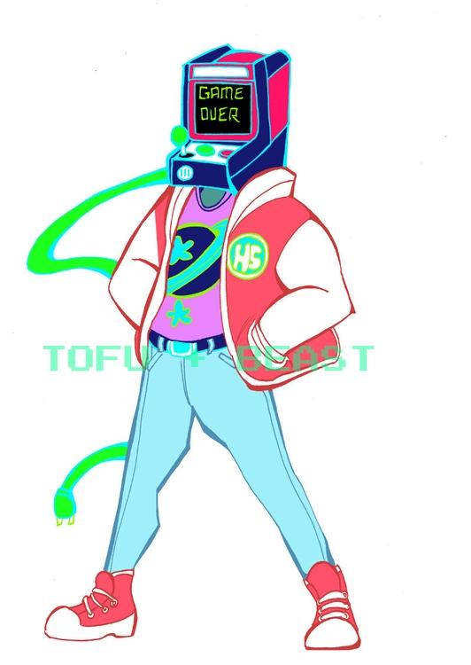 sticker design local '80s class - tofuplusbeast | ello