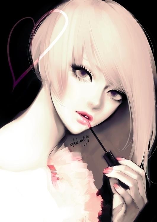 Gloss - illustration, digitalillustration - dahliart | ello