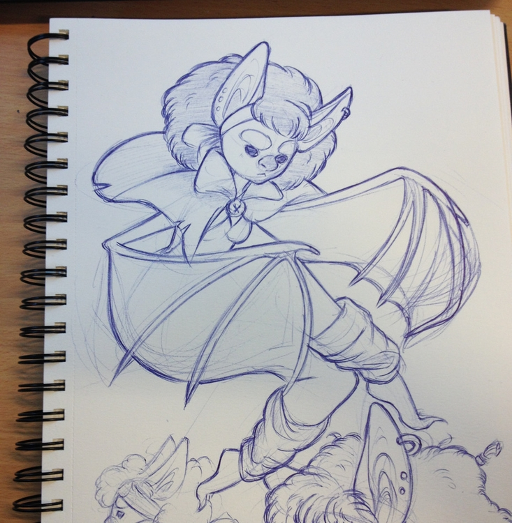 Keeka belongs bic pen - doodle, sketch - lucabella-1420   ello
