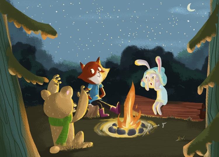 Campfire Story - children'sbook - leannepet | ello
